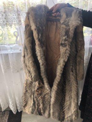 Veste en fourrure bronze