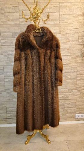 Manteau de fourrure bronze pelage