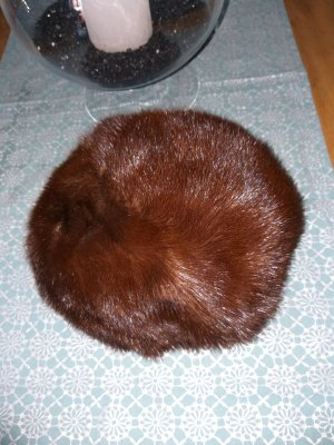Fur Hat brown-dark brown