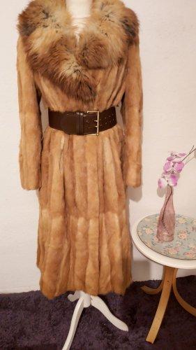 Vintage Manteau de fourrure brun sable