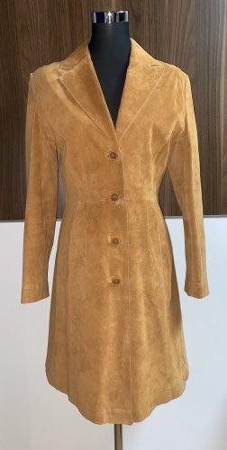 Jones Manteau en cuir brun-orange clair