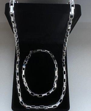 Echt Silber 925 Halskette & Armband Neu mit Verpackung hochwertiges italienisches Silber