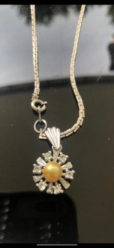 Echt Silber 925 Halskette mit echt Stein