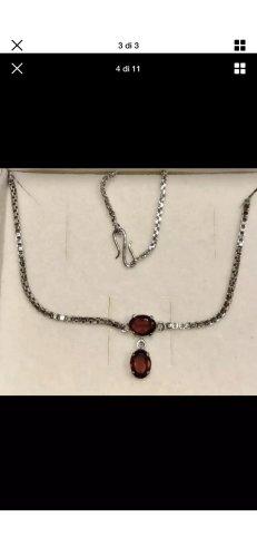 Catena d'argento argento-rosso