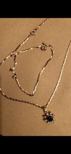 Cadena de plata color oro
