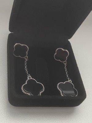 Boucles d'oreilles en argent noir-argenté