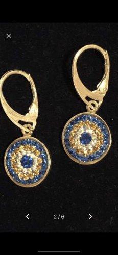 Echt Silber 925 Ohrringe mit schutz auge