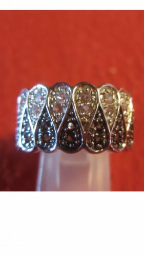 Zilveren ring zilver-zwart