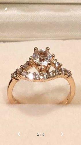 Anello d'argento color oro rosa-argento