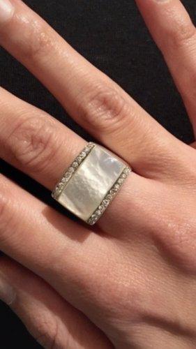 Silver Ring silver-colored-cream