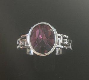 Silver Ring silver-colored-purple