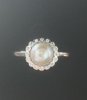 Echt Silber 925 Ring Neu mit Verpackung Echte Süßwasser Perle