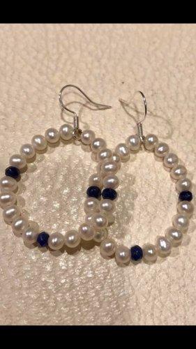 Echt Silber 925 Süßwasser Perlen Ohrringe neu