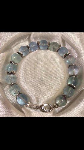 Pulsera color plata-azul claro