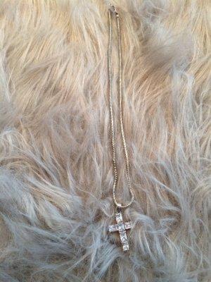 Echt Silber Kreuz Halskette
