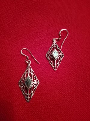 Pendientes de plata color plata-turquesa