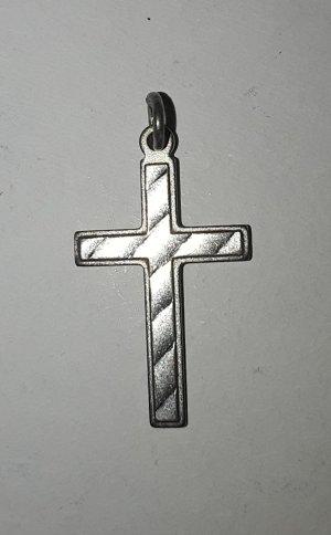 Echt silberner, kleiner Kreuz Anhänger