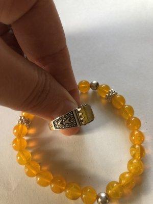 Anello d'argento arancione-arancione scuro
