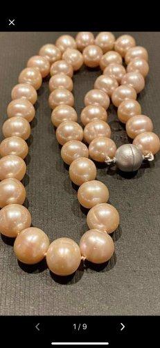 Echt Süßwasser Perlen Halskette 1cm Perlen 46 cm