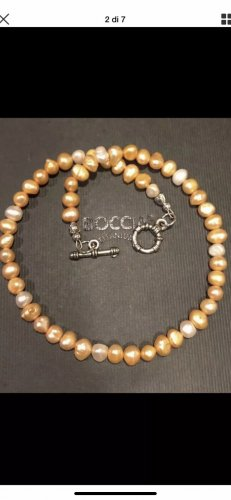 Pearl Necklace gold-colored-bronze-colored
