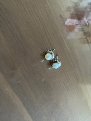 Christ Pearl Earring white-silver-colored