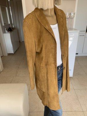 Bid Handmade Leather Coat sand brown-ocher