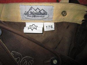 Pantalon traditionnel en cuir marron clair