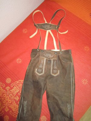 Pantalón de cuero tradicional marrón claro