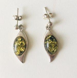 Zara Orecchino a pendente argento-verde bosco Argento