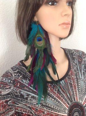 Pendant d'oreille multicolore
