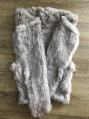 Yves salomon Fur vest beige-oatmeal