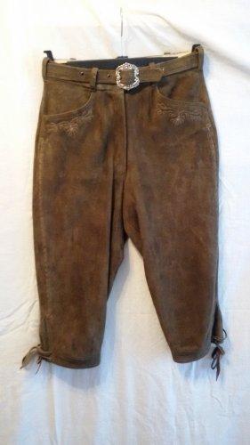 Angermaier Tradycyjne spodnie brązowy