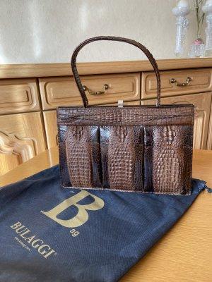 Vintage Beugeltas zwart bruin