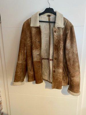 Steve Ketell Giacca di pelliccia crema-marrone