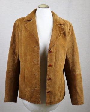 Echte Leder Jacke Blazer Joy Größe M 38 Cognac Hellbraun Braun Western Landhaus Look Leder Jacke