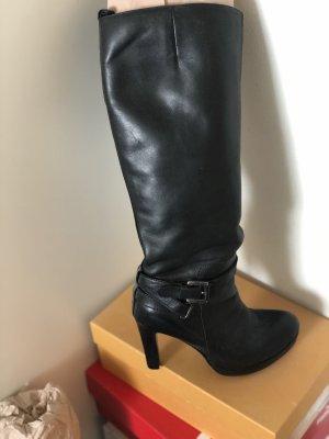 Comma Wysokie buty na obcasie czarny