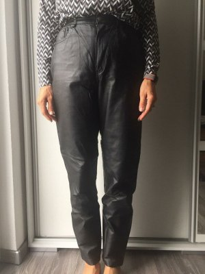 keine Marke bekannt Leather Trousers black leather