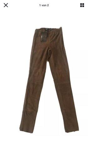 Arma Collection Skórzane spodnie brązowy-cognac