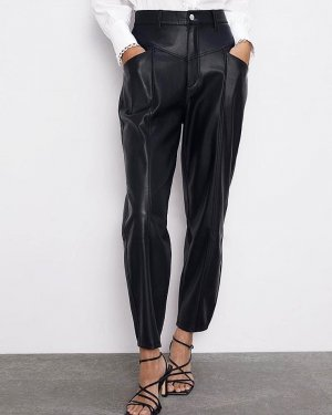 Echte Lederhose von Zara neu mit Etikett