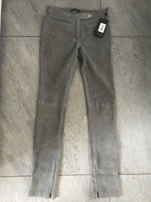 Echte Lederhose Windsor  Gr. 34/XS grau Hose Lederleggings