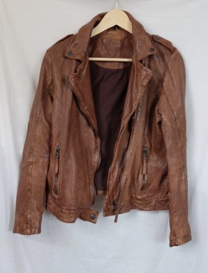 Be Edgy Leather Jacket bronze-colored leather