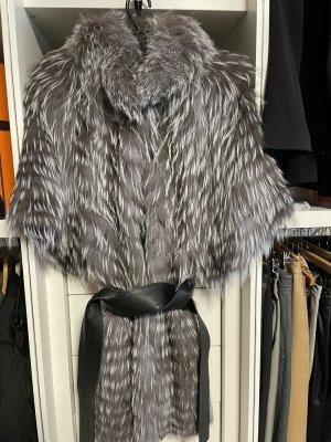 Lubert de Cologne Abrigo de piel negro-color plata