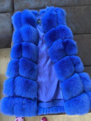 Fur vest blue