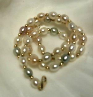 perle Collier de perles multicolore