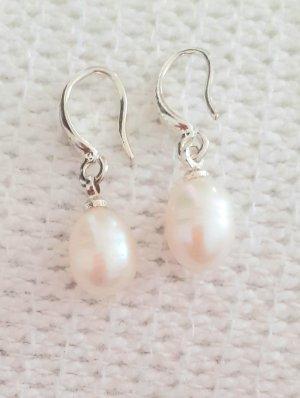 Echte Perlen Ohrringe, echt 925er Silber