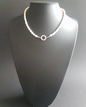 Perlen Kette Colliers ras du cou blanc