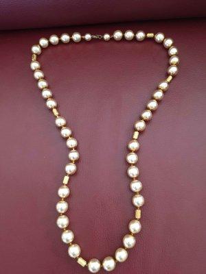 Echte Perlenkette  mit vergoldeten Befestigungen