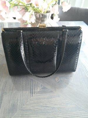 Echte Phytonbag Schlangenleder Tasche Schwarz Vintage
