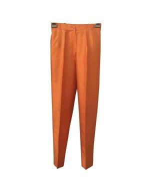 Pantalón de cintura alta naranja-naranja neón Seda