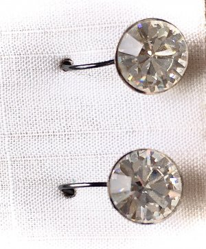 Juwelier Srebrne kolczyki srebrny-biały